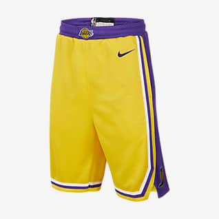 Los Angeles Lakers Icon Edition Nike NBA Swingman-shorts til store børn