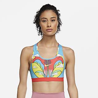 Nike Swoosh A.I.R.Cristina Daura Damski stanik sportowy z jednoczęściową wkładką zapewniający średnie wsparcie