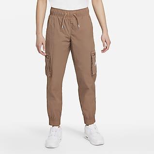 Nike Sportswear Pantalones cargo de tejido Woven para niñas talla grande