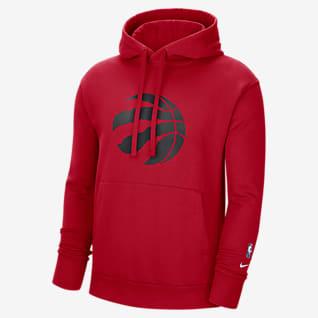 Toronto Raptors Essential Nike NBA Fleece-pullover-hættetrøje til mænd