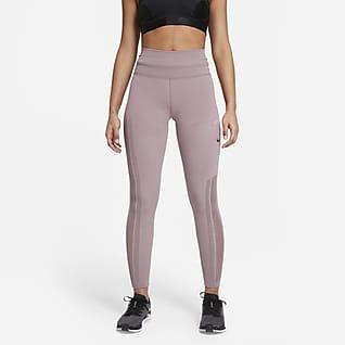 Nike Epic Luxe Run Division Leggings de malla de tiro medio con bolsillo para mujer