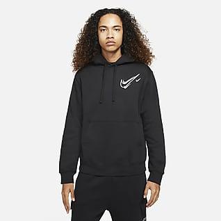 Nike Sportswear Polár kapucnis férfipulóver