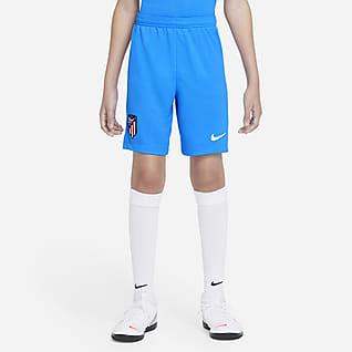 Atlético Madrid 2021/22 Stadium Nike Dri-FIT Fußball-Shorts für jüngere Kinder