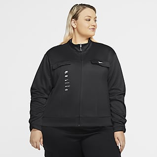 Nike Sportswear Swoosh Chamarra de politejido para mujer (talla grande)