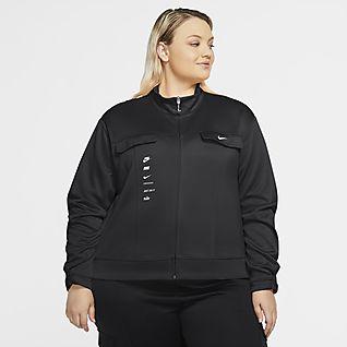 Nike Sportswear Swoosh PolyKnit-Jacke für Damen (große Größe)