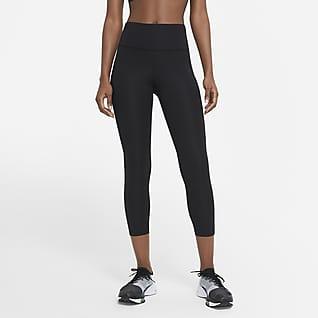 Nike Fast Korta löparleggings med medelhög midja för kvinnor