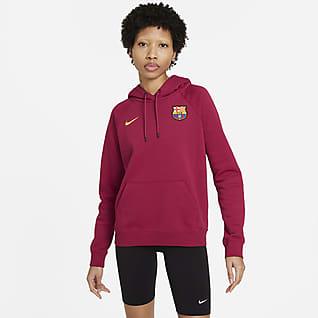 FC Barcelona Sweat à capuche en tissu Fleece pour Femme