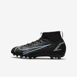 Nike Jr. Mercurial Superfly 8 Academy AG Chaussure de football à crampons pour terrain synthétique pour Jeune enfant/Enfant plus âgé