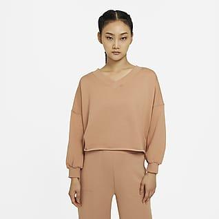 Nike Yoga Luxe 女子起绒 V 领上衣