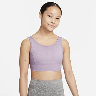 Nike Dri-FIT Swoosh Luxe Bra deportivo para niña talla grande