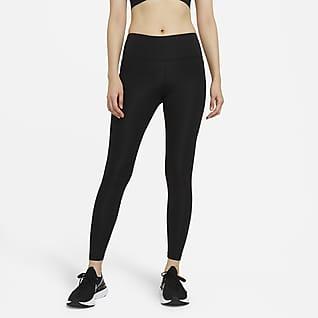 Nike Epic Fast เลกกิ้งวิ่งเอวปานกลางผู้หญิง