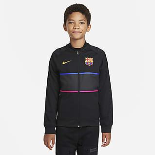 F.C. Barcelona Older Kids' Football Tracksuit Jacket