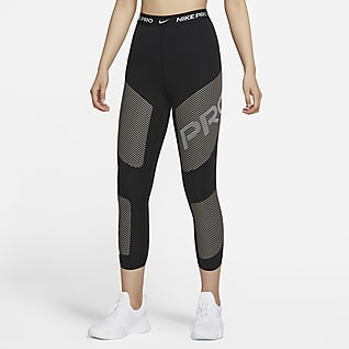 Nike Pro Dri-FIT เลกกิ้งกราฟิกเอวสูงผู้หญิง 7/8 ส่วน