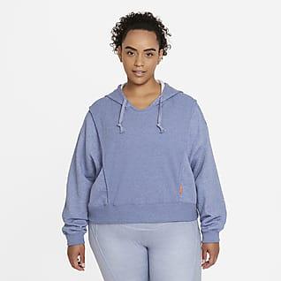 Nike Dri-FIT Sudadera con gorro de entrenamiento de tejido Fleece para mujer talla grande