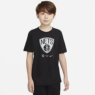 Brooklyn Nets Older Kids' Nike Dri-FIT NBA T-Shirt