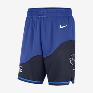 Milwaukee Bucks City Edition 2020 Nike NBA Swingman-shorts för män