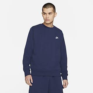 Nike Sportswear Club Férfi francia frottír kerek nyakkivágású pulóver