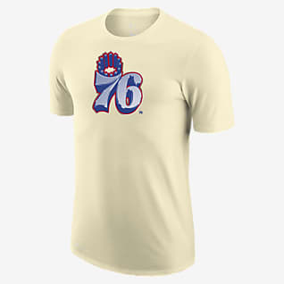 Philadelphia 76ers Earned Edition Nike Dri-FIT NBA Logo-T-Shirt til mænd