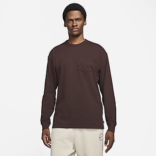 Nike Sportswear Premium Essentials Мужская футболка с длинным рукавом и карманом