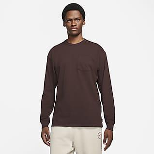 Nike Sportswear Premium Essentials Herren-Langarmshirt mit Tasche