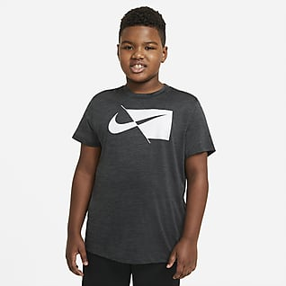 Nike Camiseta de entrenamiento de manga corta para niños talla grande (talla extendida)