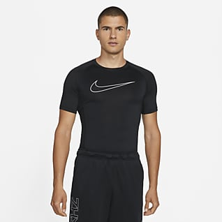 Nike Pro Dri-FIT Sıkı Kesimli Kısa Kollu Erkek Üstü