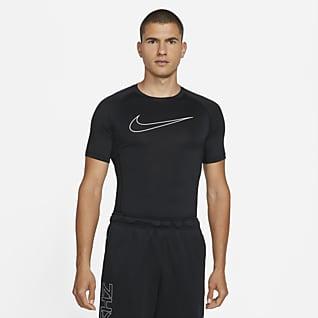 Nike Pro Dri-FIT Tettsittene kortermet overdel til herre