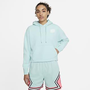 Jordan Flight Γυναικεία φλις μπλούζα με κουκούλα