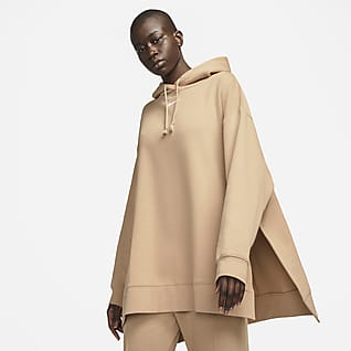 Nike Sportswear Sudadera con gorro de tejido Fleece Essential para mujer