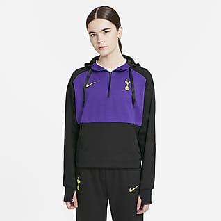 Tottenham Hotspur Dessuadora amb caputxa de teixit Fleece Nike Dri-FIT de futbol - Dona