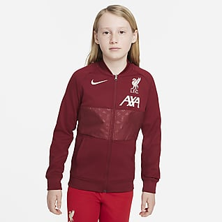 Liverpool FC Fotbalová sportovní bunda se zipem po celé délce pro větší děti