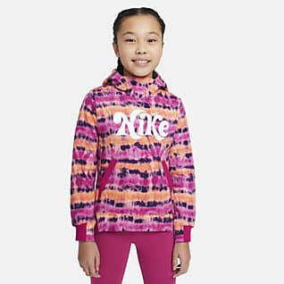 Nike Sportswear Sudadera con capucha sin cierre de tejido batik para niña talla grande