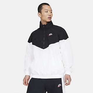 Nike Sportswear Heritage Windrunner Chamarra con capucha de medio cierre para hombre