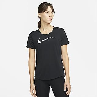Nike Dri-FIT Swoosh Run Kortärmad löpartröja för kvinnor