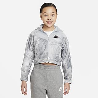 Nike Sportswear Windrunner Jakke med batikprint til større børn (piger)