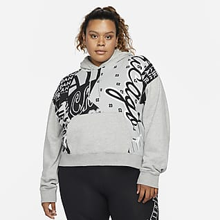 Jordan Women's Fleece Allover Printed Hoodie (Plus Size)