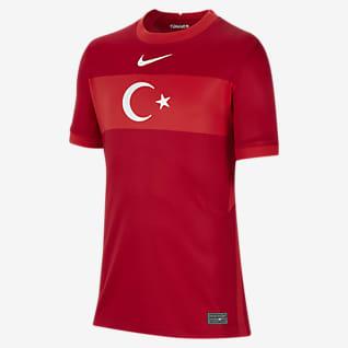 Camiseta de visitante de Turquía 2020 Stadium Camiseta de fútbol para niños talla grande