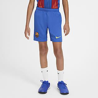 FC Barcelona 2020/21 Stadyum Genç Çocuk Futbol Şortu
