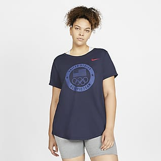 Nike Team USA Playera de entrenamiento para mujer (talla grande)