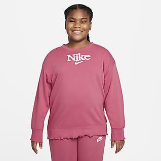 Nike Sportswear Big Kids' (Girls') Sweatshirt (Extended Size)