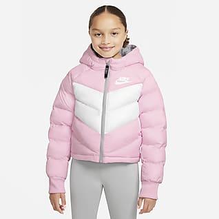 Nike Sportswear Chamarra con gorro y relleno sintético para niñas talla grande
