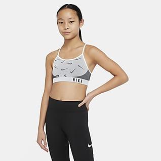 Nike Indy Sportmelltartó nagyobb gyerekeknek (lányok)