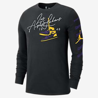 Los Angeles Lakers Courtside Men's Jordan NBA Long-Sleeve T-Shirt