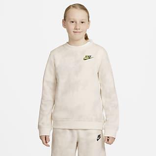 Nike Sportswear Magic Club Tie-dye top met ronde hals voor jongens