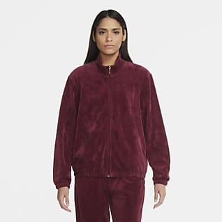 Nike Sportswear Track-Jacket aus Velours für Damen