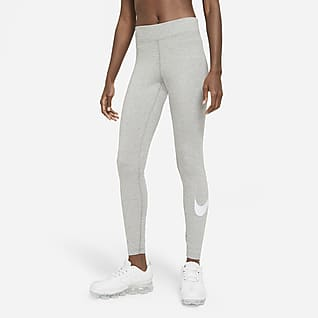 Nike Sportswear Essential Dámské legíny Swoosh se středně vysokým pasem