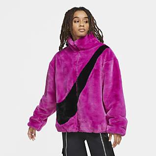 Nike Sportswear Damesjack met imitatiebont
