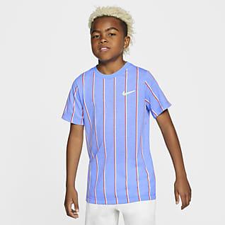 NikeCourt Dri-FIT Genç Çocuk (Erkek) Tenis Tişörtü