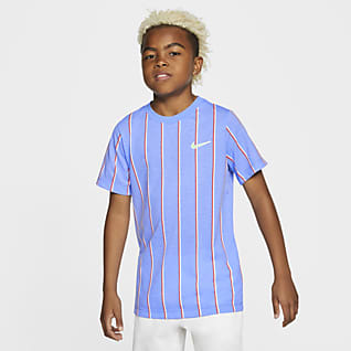 NikeCourt Dri-FIT Tennis-T-skjorte til store barn (gutt)
