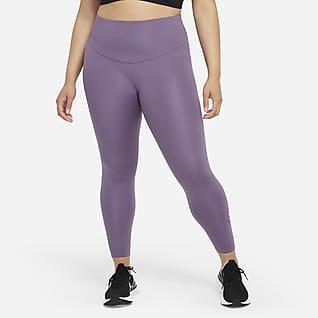 Nike Dri-FIT Swoosh Run 7/8-hardlooplegging met halfhoge taille voor dames (Plus Size)